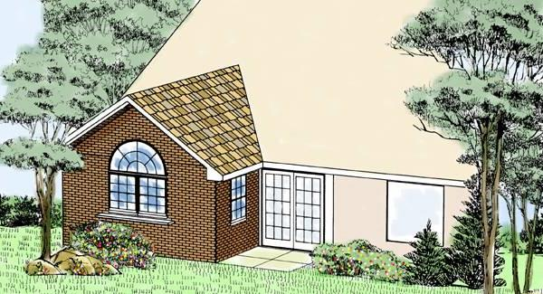 Remodeled Rear Rendeing by DFD House Plans