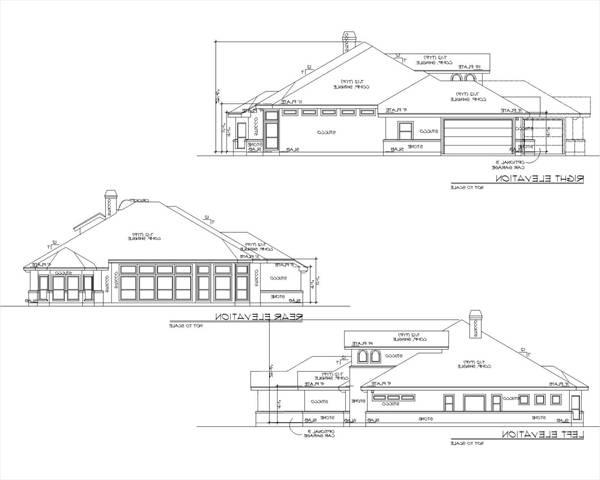 Rear and Side Elevations by DFD House Plans