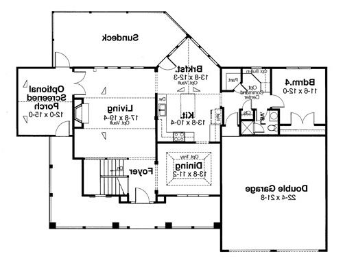 Main Level by DFD House Plans