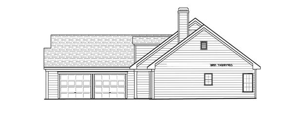 Left Elevation by DFD House Plans