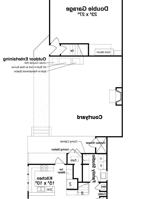 Courtyard by DFD House Plans