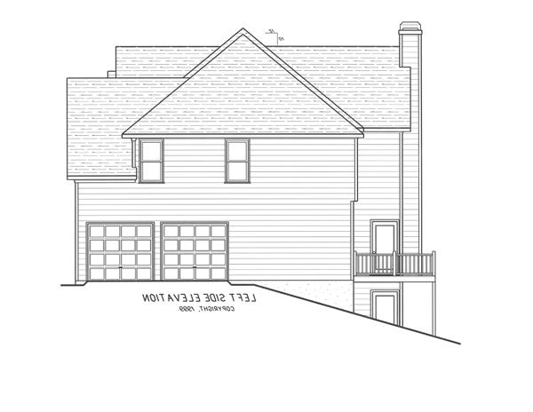 Left Elevation-Garage entry option by DFD House Plans