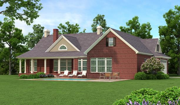Rear Rendering - Brick