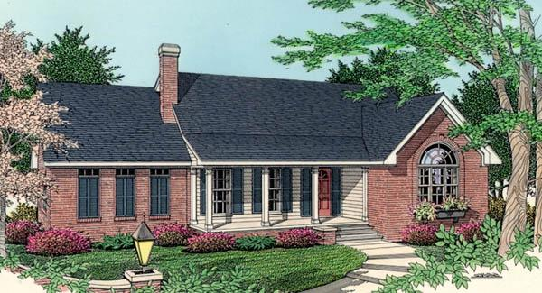 Front Exterior by DFD House Plans