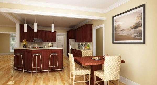 Kitchen by KraftMaid by DFD House Plans