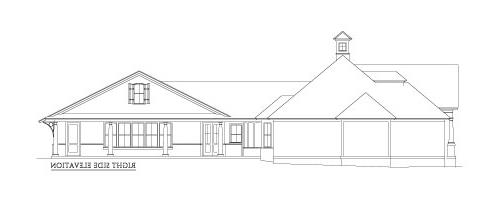 Right Side Elevation 2 by DFD House Plans