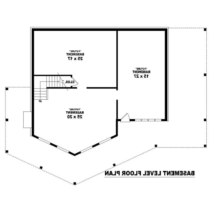 Basement Level by DFD House Plans