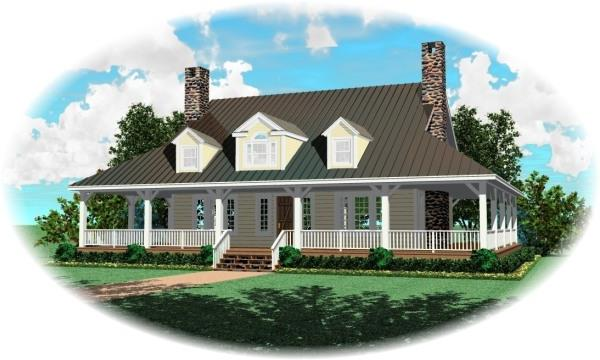 Front with optional dormers3 by DFD House Plans