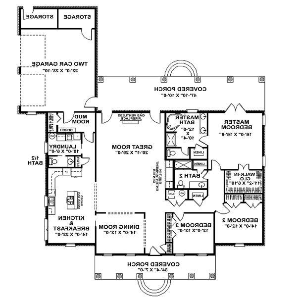 Country Homes Open Floor Plan Creation