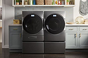 A Washer with Smart Downloadable Cycles That You Can Give Instructions to in a Variety of Ways