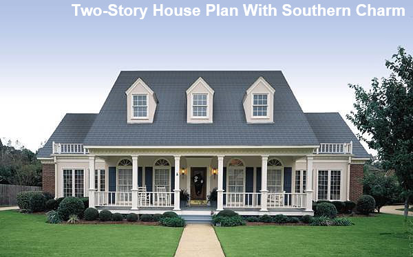 welcoming southern house plan with large front porch